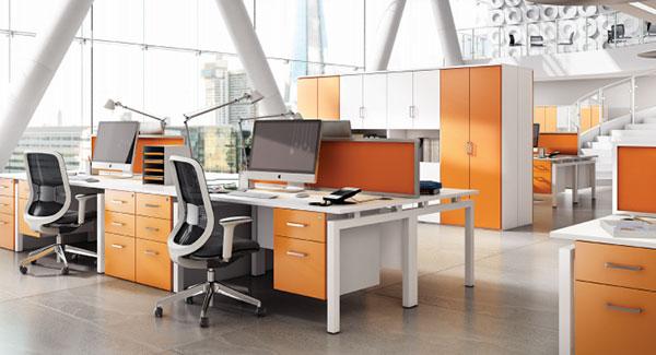 رنگ زرد و نارنجی در محیط کار